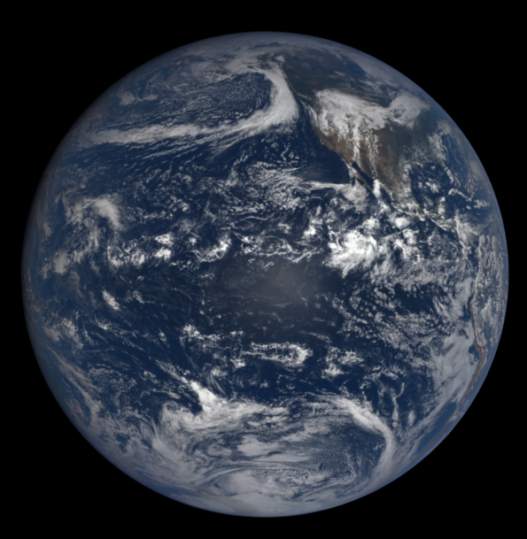 Autumnal equinox from space