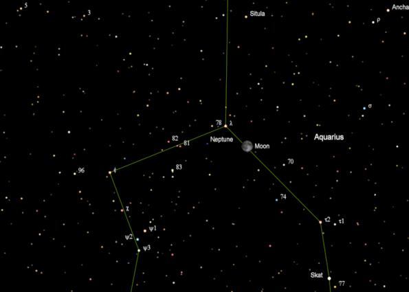 Neptune finder chart