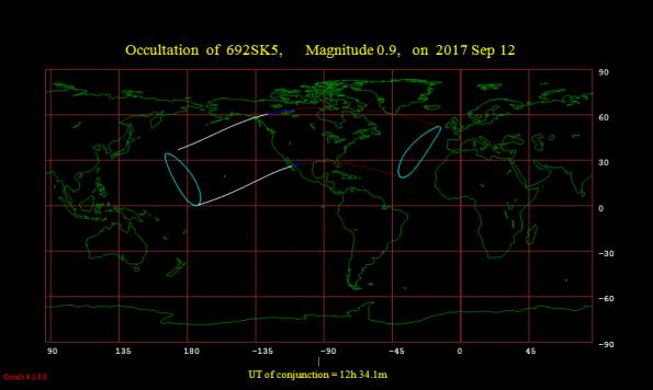 Occultation map