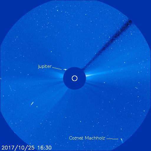 Jupiter snd Comet Machholz