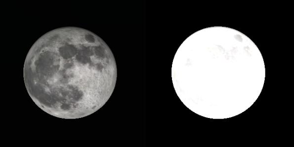 Moon albedo comparison