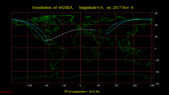 Occultation Map
