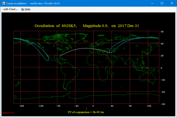 Occultation visibility map