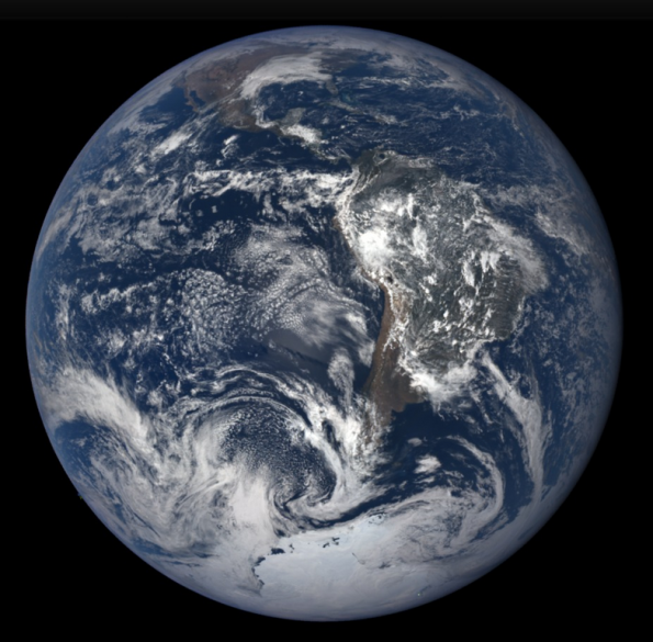 The Earth near the December solsitce