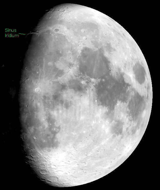 The Moon with Sinus Iridium
