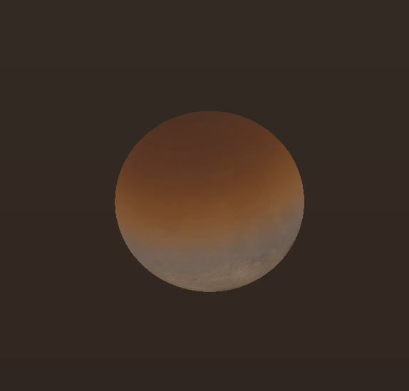 Partial eclipsed Moon