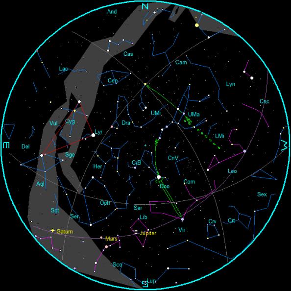 February Morning Star Chart