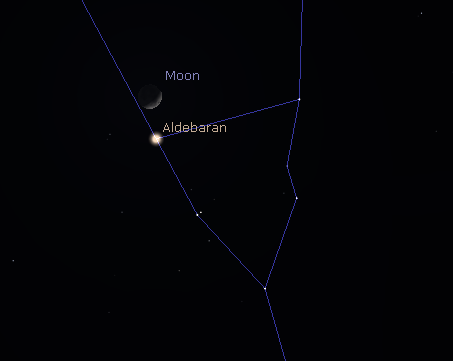 The Moon and Aldebaran