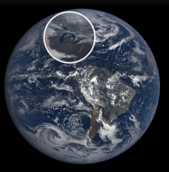 The Earth from DSCOVR/EPIC