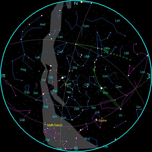 April Morning Star Chart
