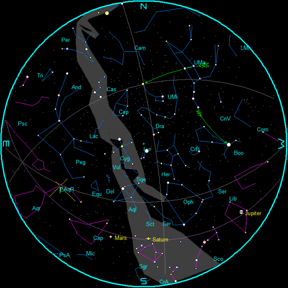 May Morning Star Chart