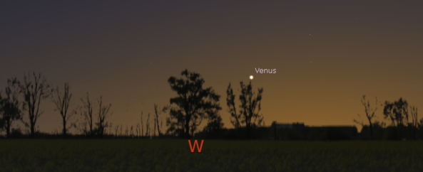 Venus in twilight