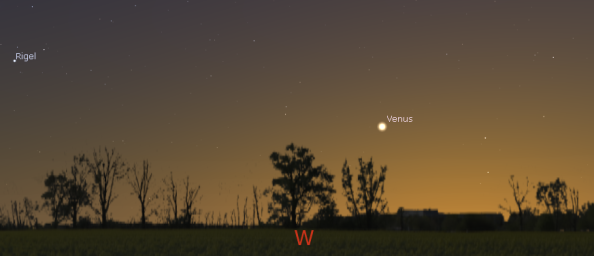 Venus in the evening