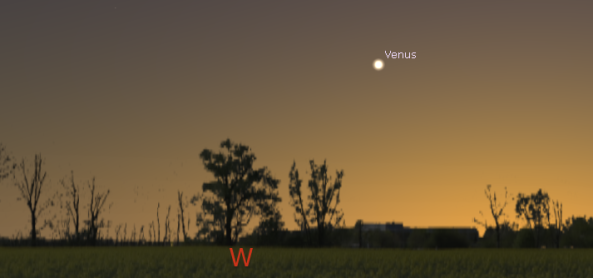 Venus in evening twilight