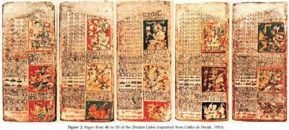 Venus section of the Dresden Codex