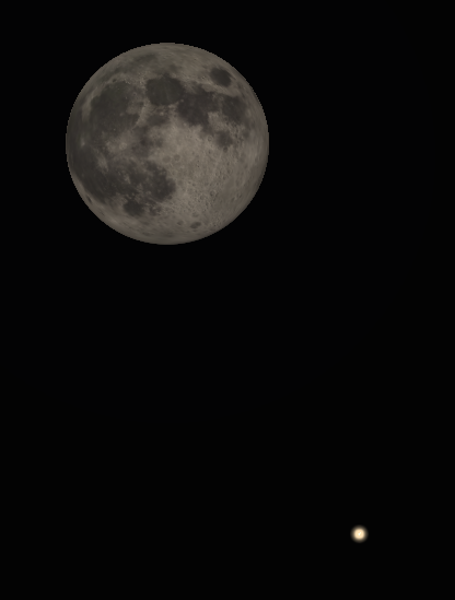 Binocular Moon and Saturn