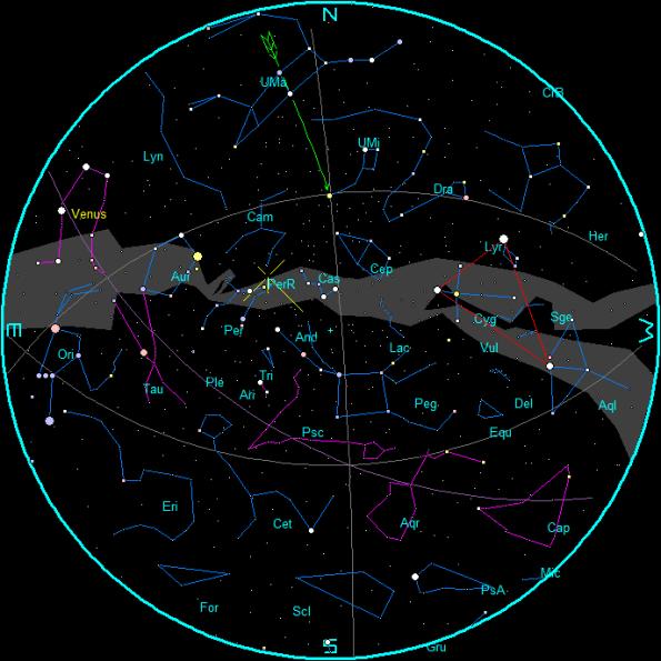 August Morning Star Chart