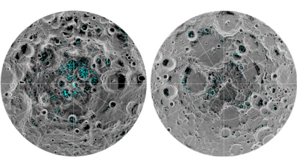 Map of water at the Moon's poles