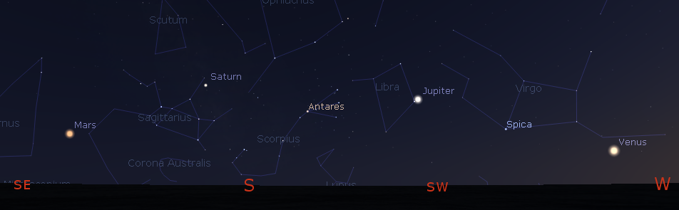 08/08/2018 – Ephemeris – Let's check out the bright planets