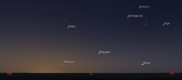 Mercury in the morning
