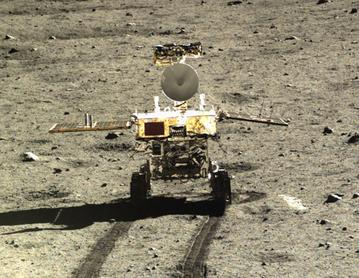 Yutu Rover on the Moon