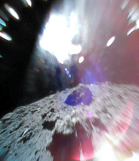 Ryugu surface