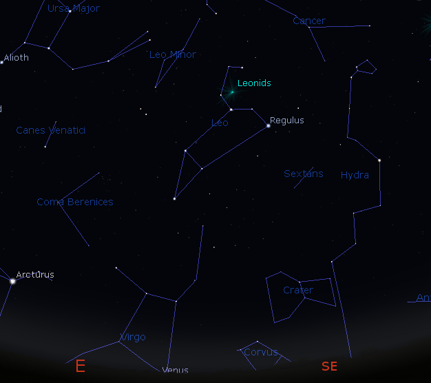 Leonid meteor shower | Bob Moler's Ephemeris Blog