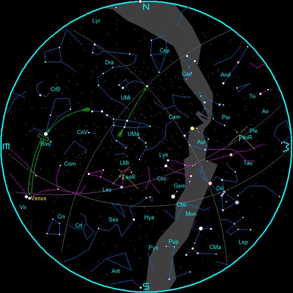 November Morning star chart
