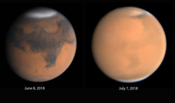Mars closest approach