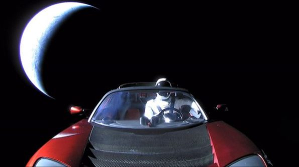 Falcon Heavy Tesla