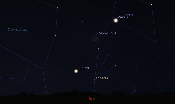 01/02/2019 – Ephemeris – The first look at the bright planets for