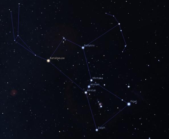 Orion's brightest stars