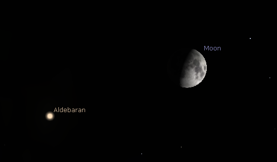 Moon and Aldebaran