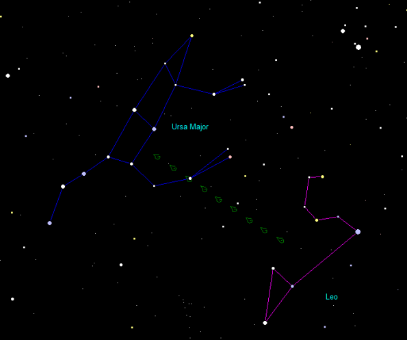 Leaky Big Dipper drips on Leo
