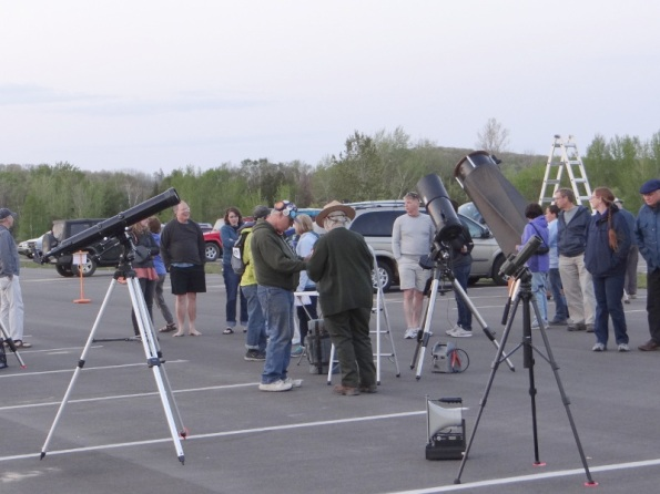Preparing to start the star party