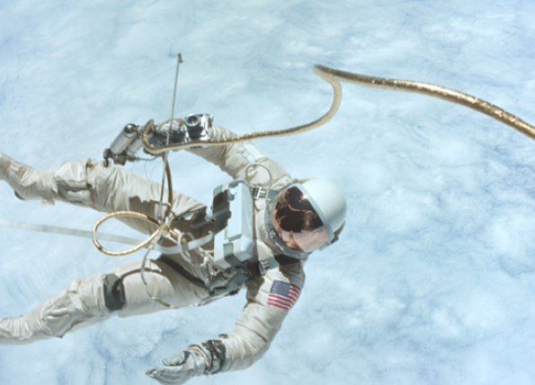 Ed White in America's first space walk