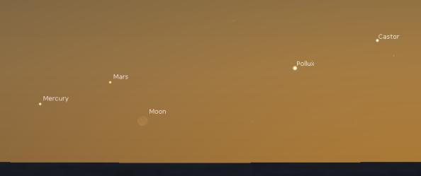 Mars Mercury Moon