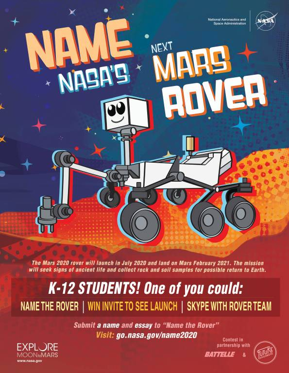 Name NASA's next Rover