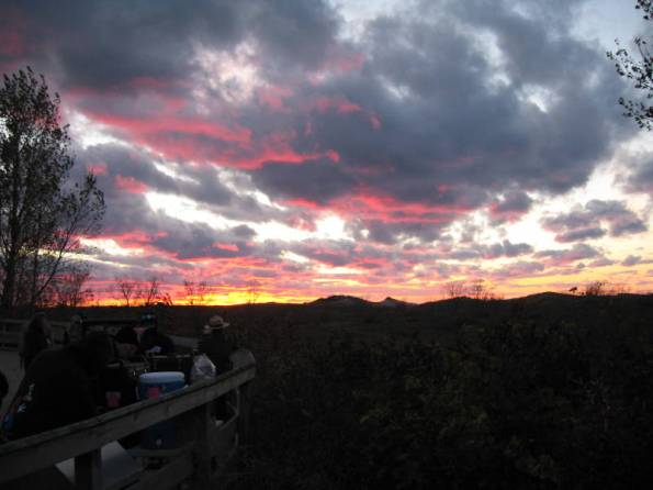 Sunset on the 40th anniversary star party