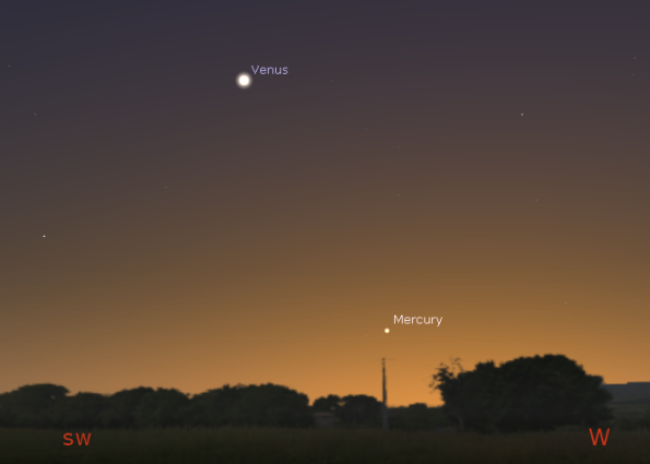 Venus and Mercury in twilight