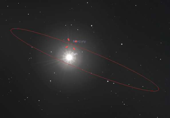 Mercury at inferior conjunction