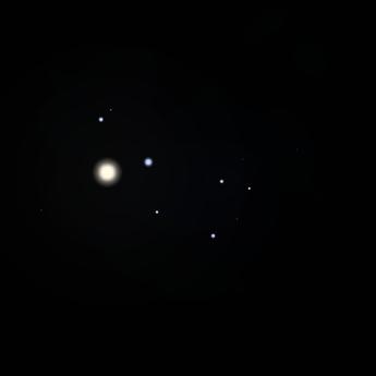 Venus and the Pleiades