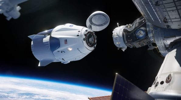 Crew Dragon docking to the ISS