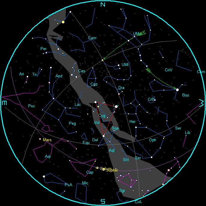 June Morning Star Chart
