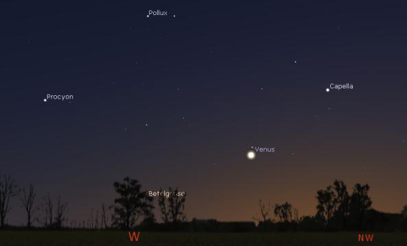 Venus in evening twilight