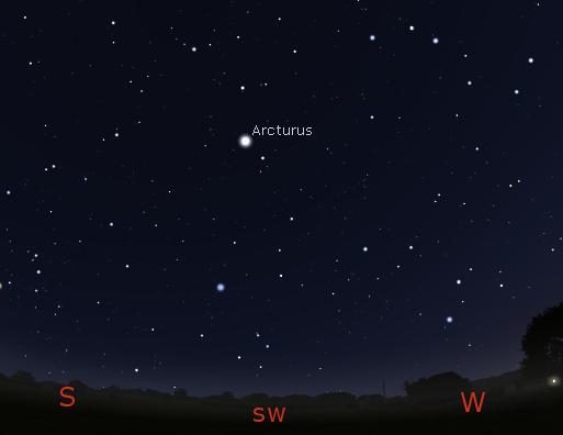 Arcturus finder diagram