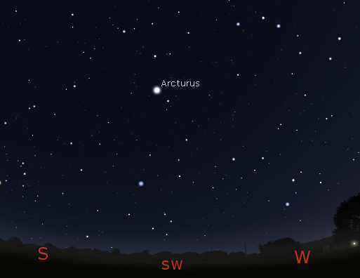 Arcturus finder diagram