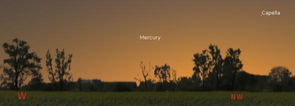 Mercury in the evening