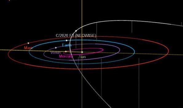 C/2020 F3 NEOWISE orbit