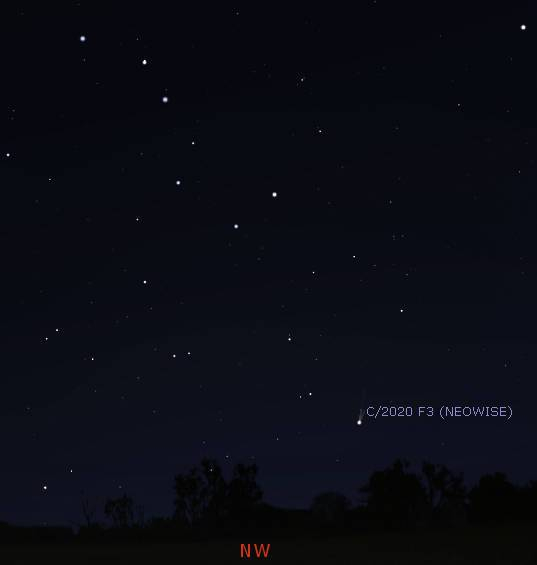 NEOWISE evening_2300-071620